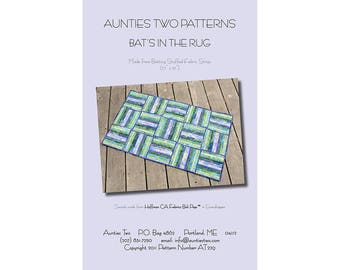 Bat's in the Rug by Aunties Two Patterns - Paper Printed Pattern