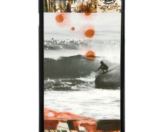 NEW iPhone 7/7+ Case, Pocket Mysto Surfer, Trestles, CA, Indigo, Sea, Waves, Beach, Surf, Ocean, Art, Avail with Black or White case color