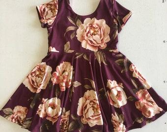 4T Twirly Dress // Ruby Floral