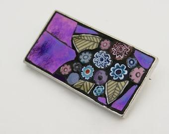 Mosaic Brooch - sweet violet.