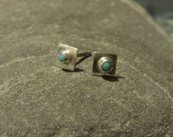 silver and turquoise ear jewelry