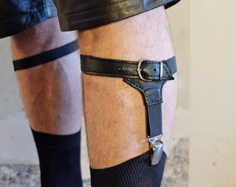 Men's Leagues with leather application/man leagues with real leather.