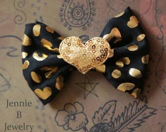 Cheetah Heart Bow