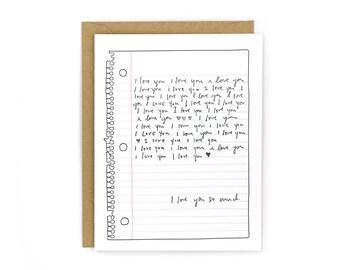 Love Note Letterpress Card