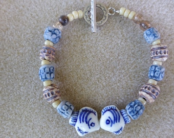 Kissing Fish Bracelet and Clay Beads