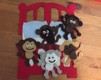 No More Monkeys Jumping on the Bed! Felt Board Story