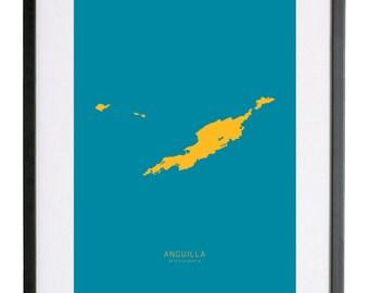 "Anguilla 18"" x 24"" FRAMED Print"