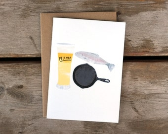 SALE! Pilsner and Fish Fry A6 Card