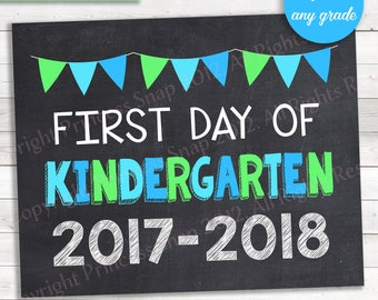 First Day of Any Grade, Any Date, Personalized First of Day School, 1st Day School, First Day, Printable Sign, 8x10