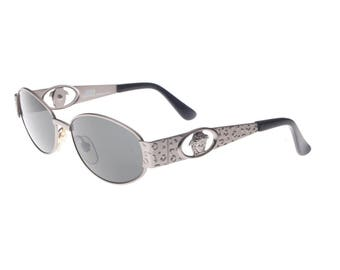 Gianni Versace S51 vintage Medusa sunglasses, leopard temples effect, styled and made in Italy, 1990s NOS