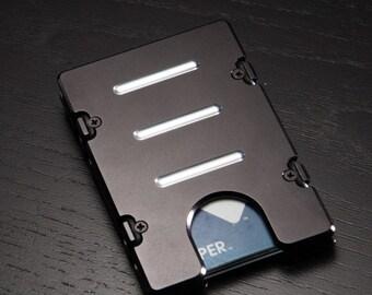 Mens Credit Card Holder, Aluminum  RFID Protection, Standard Design