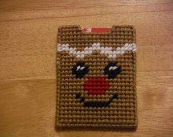 Plastic Canvas Gift Card Holder Gingerbread Man, needlecraft, Christmas gift, Money Cards, Money Holder Cards,  Christmas Money Card
