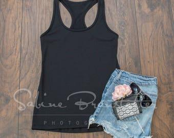 "Styled Stock Photography ""Fun Day"", Mockup-Digital File. Women's black shirt"