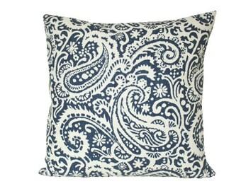 Indigo Arta Paisley Decorative Pillow Cover by Kravet
