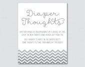 Gray Baby Shower Diaper T...