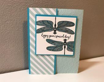 Birthday Handmade Stampin' Up! Card, Dragonfly
