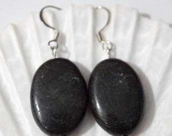 Black Gemstone Earrings | Black Earrings | Gemstone Earrings