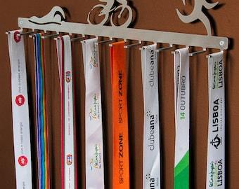 Triathlon hook medal display