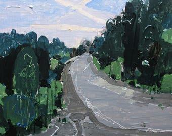 Beaver Dam Road, Original Late Summer Landscape Painting on Panel, Stooshinoff