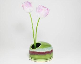 Ikebana Dish - Japanese Flower Bowl - Japanese Flower Vase - Bud Vase Ikebana - Flower Ikebana - Planter Ikebana - Ikebana Bud Vase -InStock