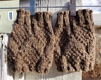 PNW Pine Cone Boot Cuffs in Barley Brown
