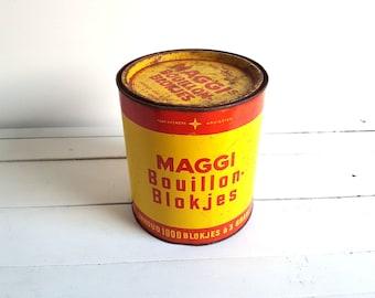 Large vintage Dutch tin 'Maggi Bouillon'
