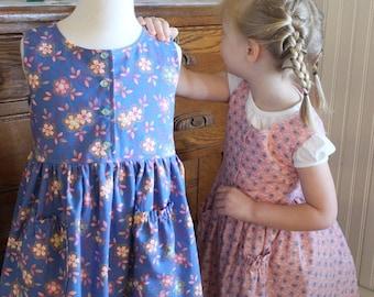 Girl's Calico Jumper/Sundress Sizes 2-10