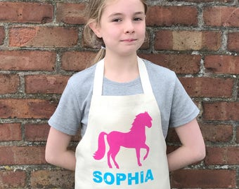 Horse Apron|childrens apron|kids apron|birthday apron|toddler apron|cooking gift|baking gift