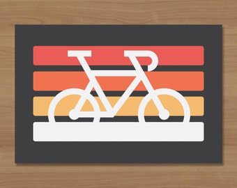 Retro Bicycle Sticker