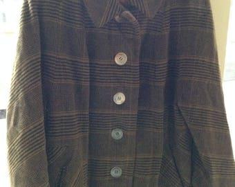 Connoisseur brand, La Vigna tailored, 100 % cashmere vintage coat