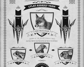 Nintendo Star Fox Vintage Poster - signed museum quality giclée fine art print