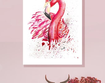 Flamingo Boxed Canvas