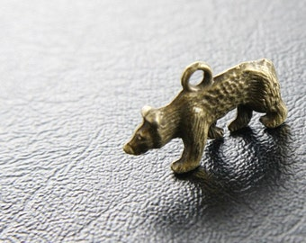 6pcs Antique Brass Color Base Metal Bear Charms (Y9384//C141)
