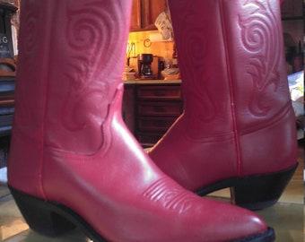 Red TONY LAMA Cowboy BOOTS Ladies Size 6 1/2 B