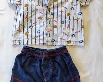 Vintage Babyworks Baseball Outfit
