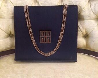 Vintage Evening Bag, Black Evening Bag, Gold Chain Handbags, Satin Evening Bag, Vintage Bags, Black Evening Purse, Evening Bags