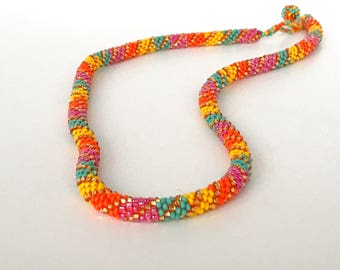 Stunning Handwoven Beaded Necklace
