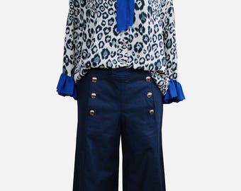 Culotte, Trousers Rock Sailor Blue, Gr. 42