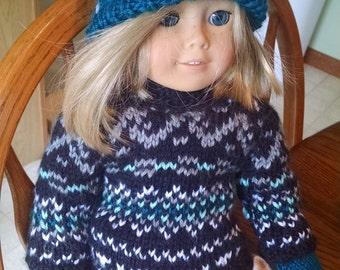 American Girl doll Scandinavian style sweater set