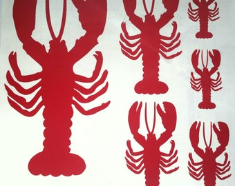 Maine Lobster Vinyl Wall Decal - Maine Lobster Vinyl Decal - Maine Lobster Decal - Vinyl Wall Decal - Lobster Vinyl Wall Decal - Vinyl Decal