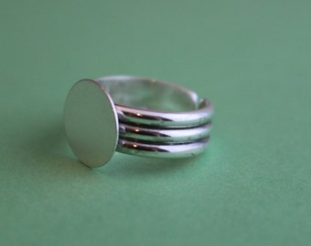 Wide Sterling Silver Ring Blank
