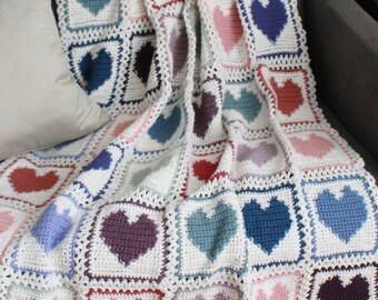 Scrap Hearts Afghan Pattern PDF