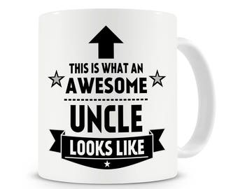 This Is What An Awesome Uncle Looks Like Mug, Best Uncle Gift, Uncle Birthday Gift, Gift For Uncle