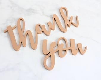 Thank You Sign, Wedding Thank You Sign, Thank You Sign Wedding Photo Props for DIY Thank You Cards, Bride & Groom Photography Decor