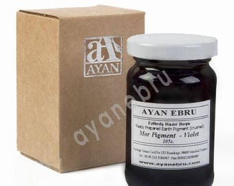Ebru Marbling Paint Colors-Pigment Violet Purple 105cc (Ayan)
