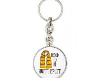 Hufflepuff  Keyring - Keychain- Key Fob -Harry Potter - Accessories -Newt Scamander