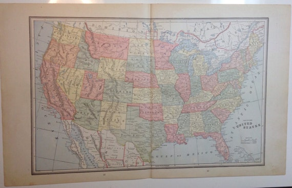 Phenomenal 1891 United States Map