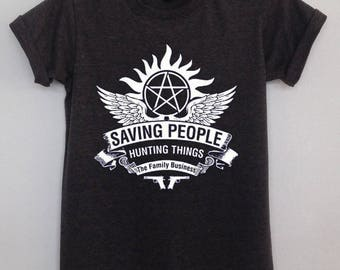 Winchester Saving people hunting things supernatural antipossession  clothing