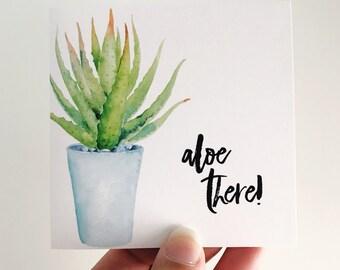 Aloe There Mini Card