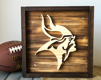 Wooden MN Football Wall Hanging